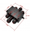 Water-proof power junction box